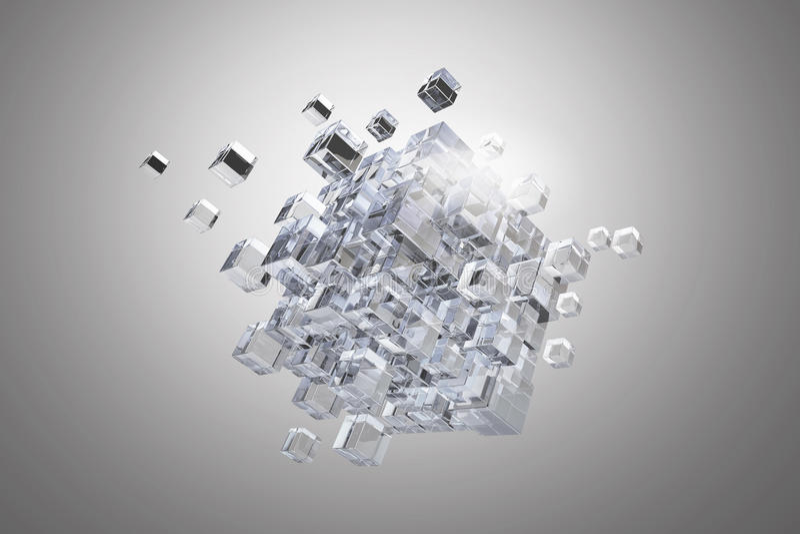 Высокотехнологичная диаграмма куба Мультимедиа стоковые фотографии rf
