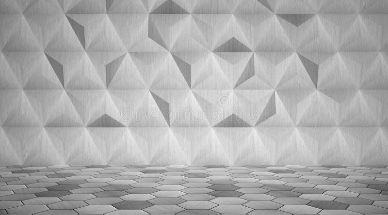 Высокотехнологичная комната металла иллюстрация вектора