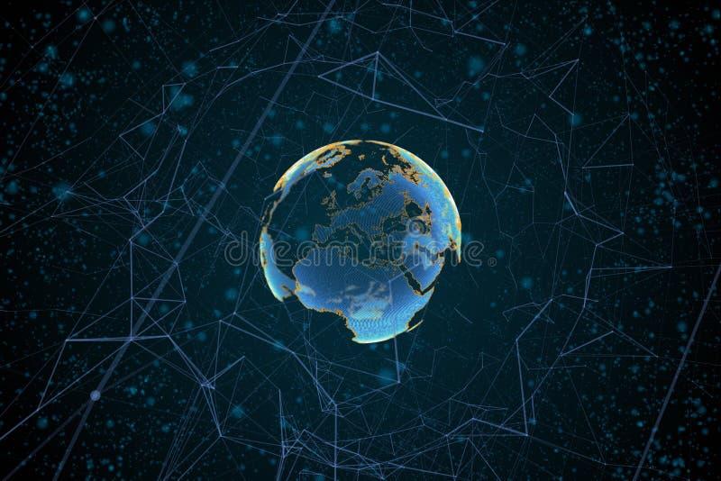Высокотехнологичный глобус бесплатная иллюстрация