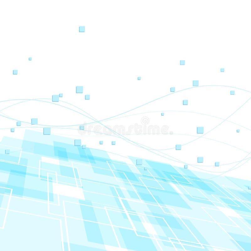 Высокотехнологичный шаблон предпосылки - голубая геометрия бесплатная иллюстрация