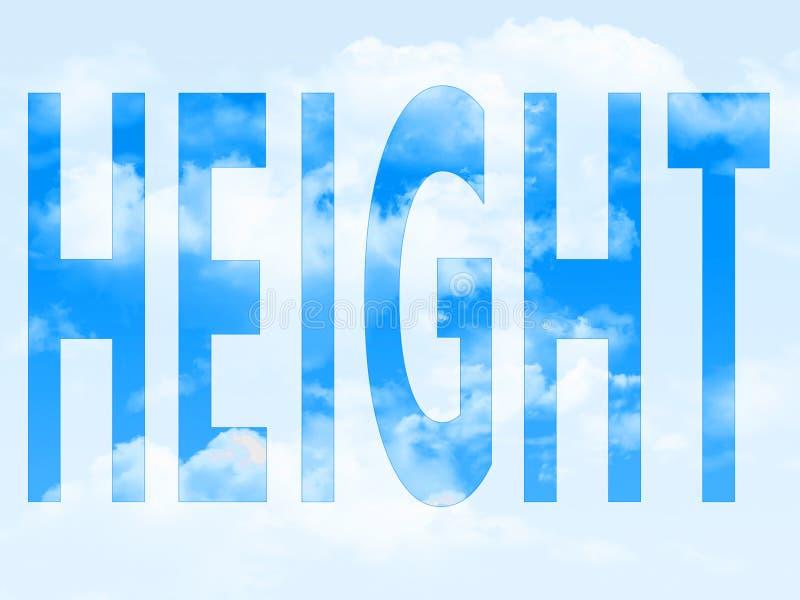 Высота в символе стоковые фотографии rf