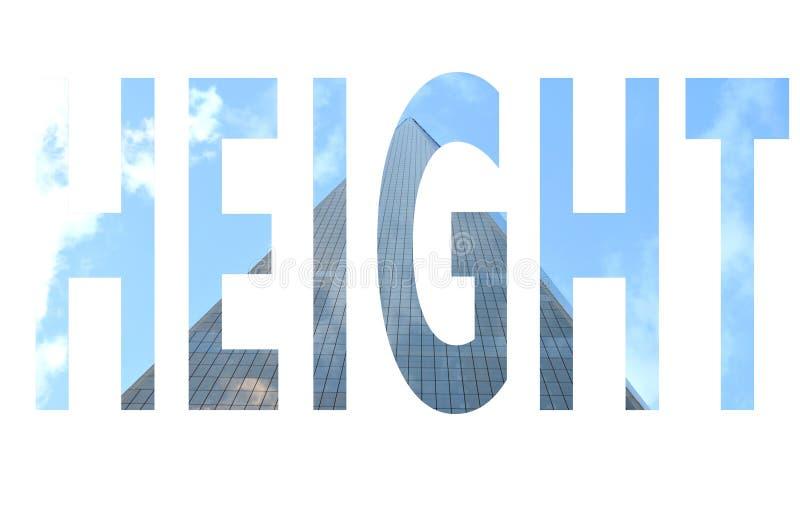 Высота слова стоковые изображения rf