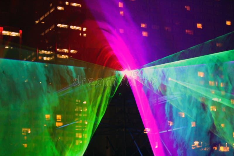 Выставка 2 лазера стоковое фото rf