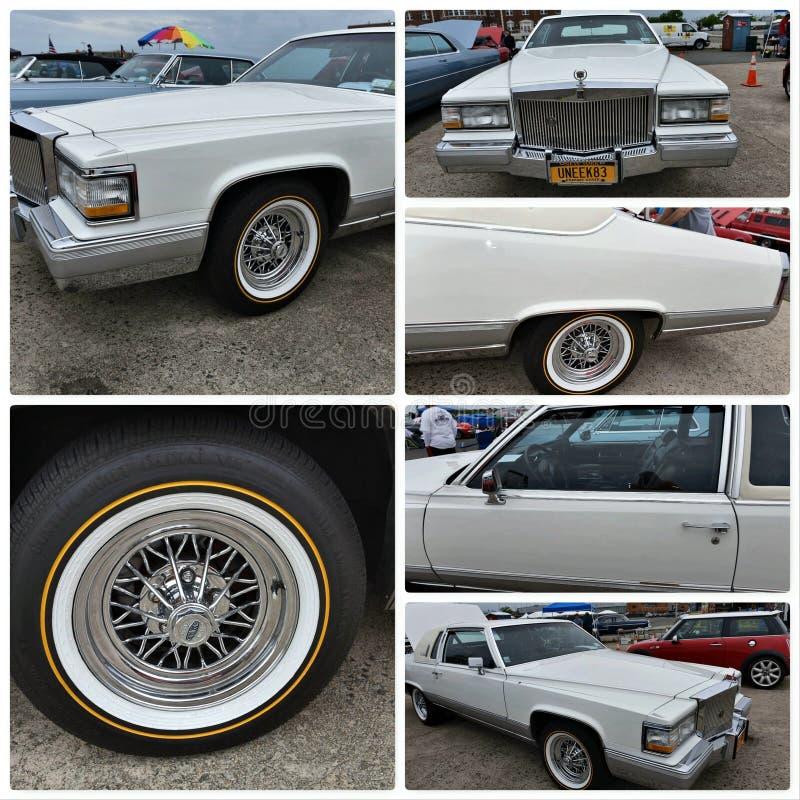Выставка античного автомобиля Нью-Йорк Кадиллак 1983 fleetwood стоковая фотография