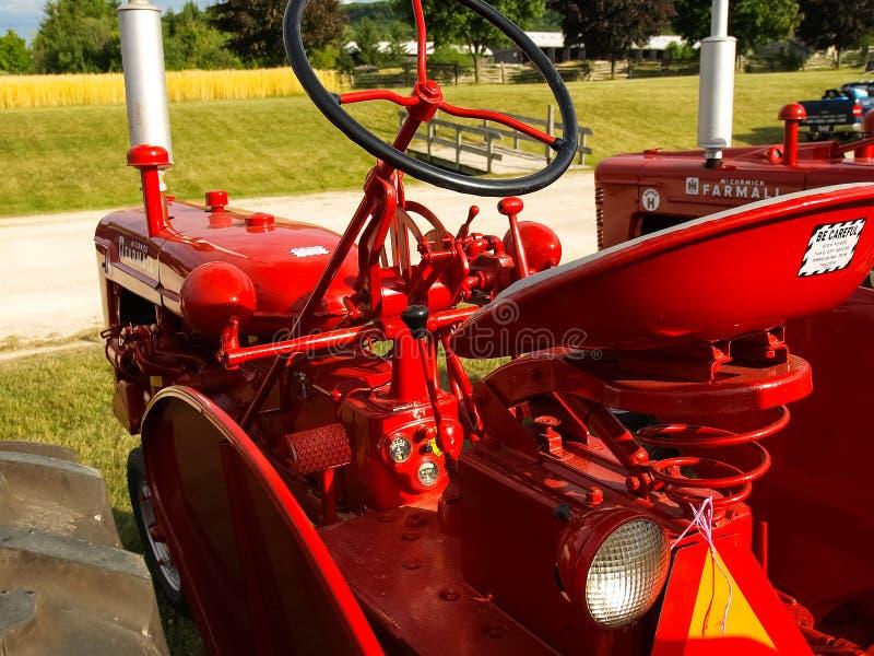 Выставка античных тракторов Шоу трактора Мах Agreecultural стоковая фотография