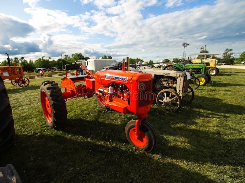 Выставка античных тракторов Шоу трактора Мах Agreecultural стоковые изображения