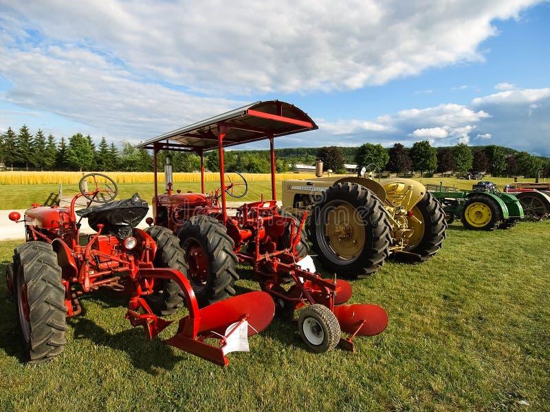 Выставка античных тракторов Шоу трактора Мах Agreecultural стоковое изображение rf