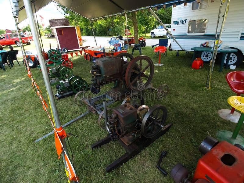 Выставка античных тракторов Шоу трактора Мах Agreecultural стоковое изображение