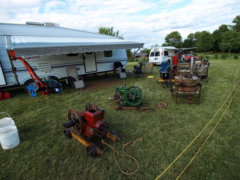 Выставка античных тракторов Шоу трактора Мах Agreecultural стоковые фото