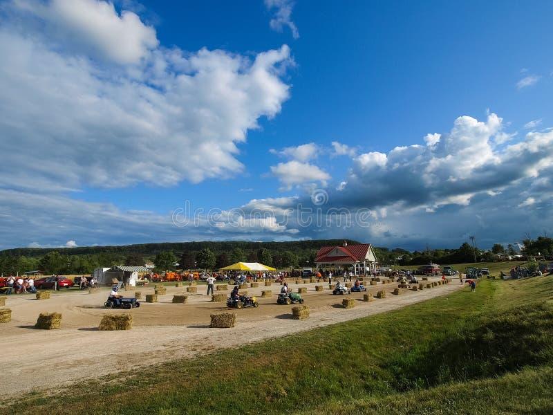 Выставка античных тракторов Шоу трактора Мах Agreecultural стоковое фото rf
