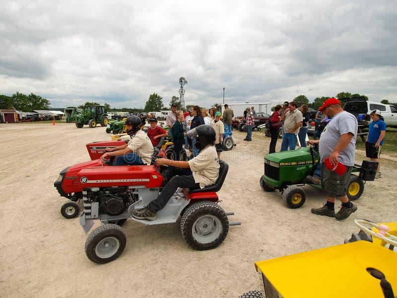 Выставка античных тракторов Шоу трактора Мах Agreecultural стоковые изображения rf