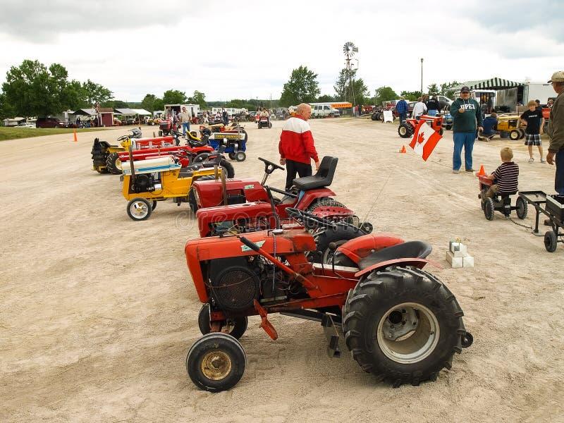 Выставка античных тракторов Шоу трактора Мах Agreecultural стоковые фотографии rf