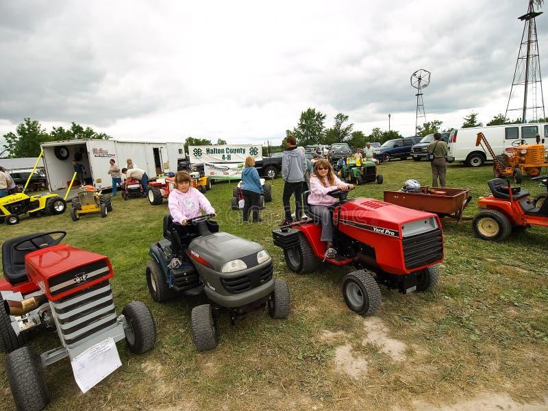 Выставка античных тракторов Шоу трактора Мах Agreecultural стоковое фото