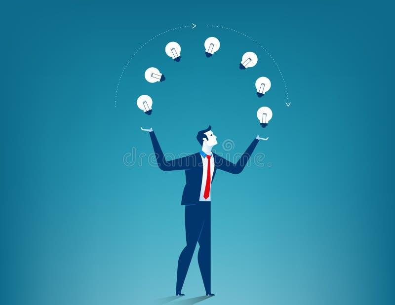 Выставка бизнесмена творческая иллюстрация вектора