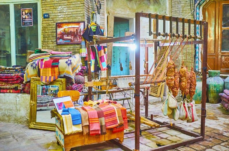 Выставка в грандиозном базаре Kashan, Ирана стоковые фото