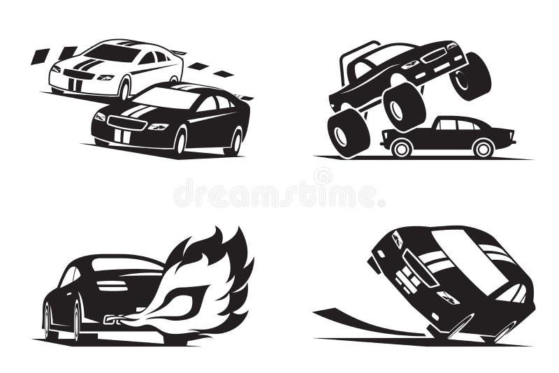 Выставка гоночных автомобилей иллюстрация вектора