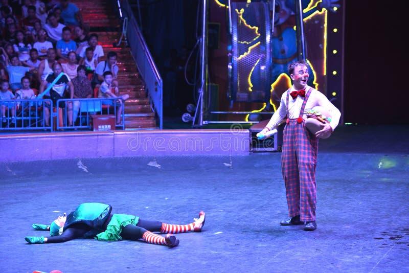 Выставка клоуна цирка Шанхая стоковые фото