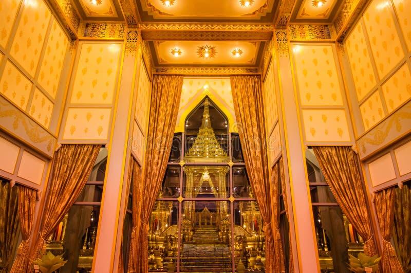 Выставка на королевской церемонии кремации, земле Sanam Luang церемониальной, Бангкоке, Таиланде на November7,2017: Королевский к стоковая фотография rf