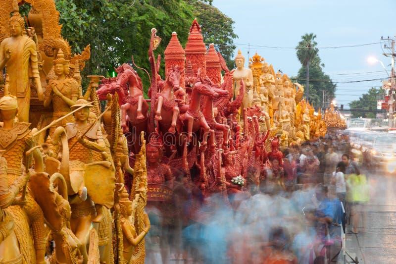 Выставка празднества парада свечки. стоковое изображение rf