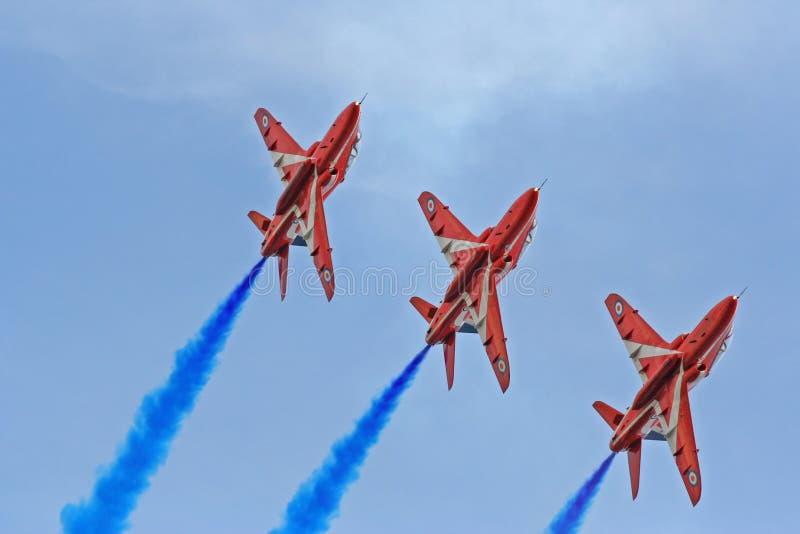 выставка стрелок воздуха красная стоковое изображение