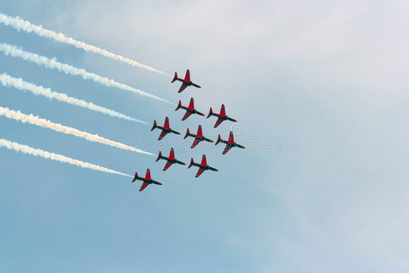 выставка стрелок воздуха красная стоковое фото