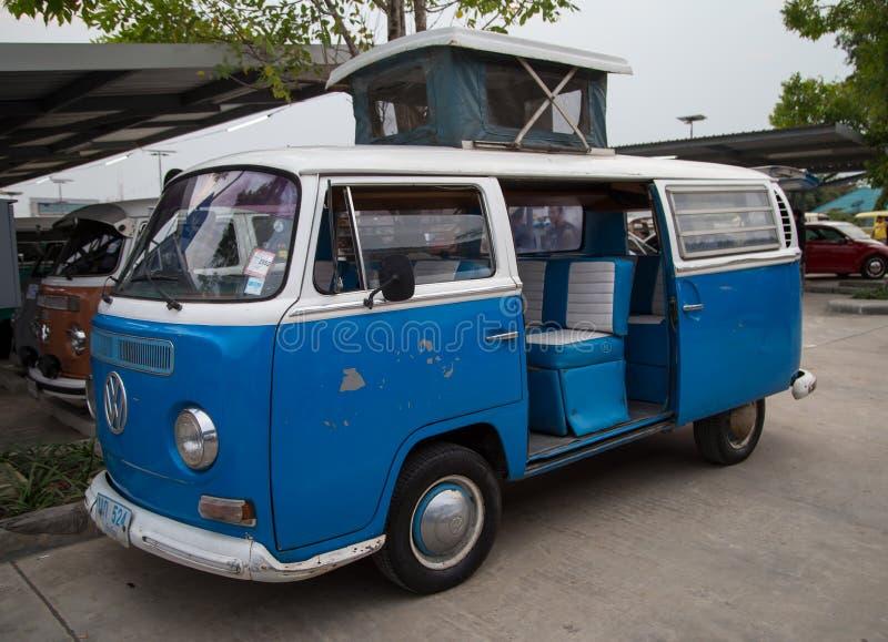 Выставка Фольксвагена фургона microbus в встрече клуба VW стоковое фото