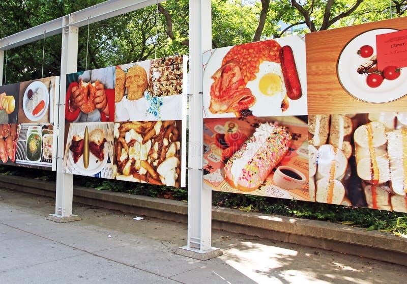 Выставка фотографии еды стоковые изображения rf
