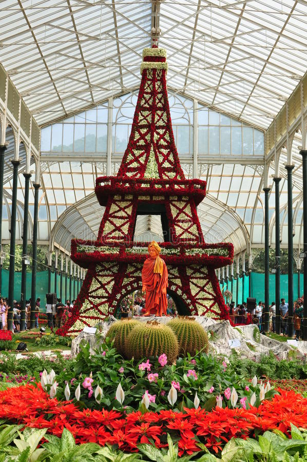 Выставка цветка Lalbagh стоковое фото rf
