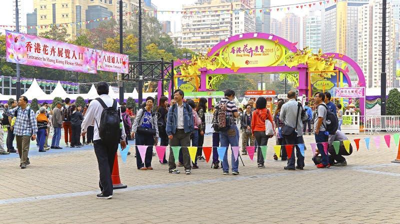 Выставка цветов 2015 internationall Гонконга стоковая фотография