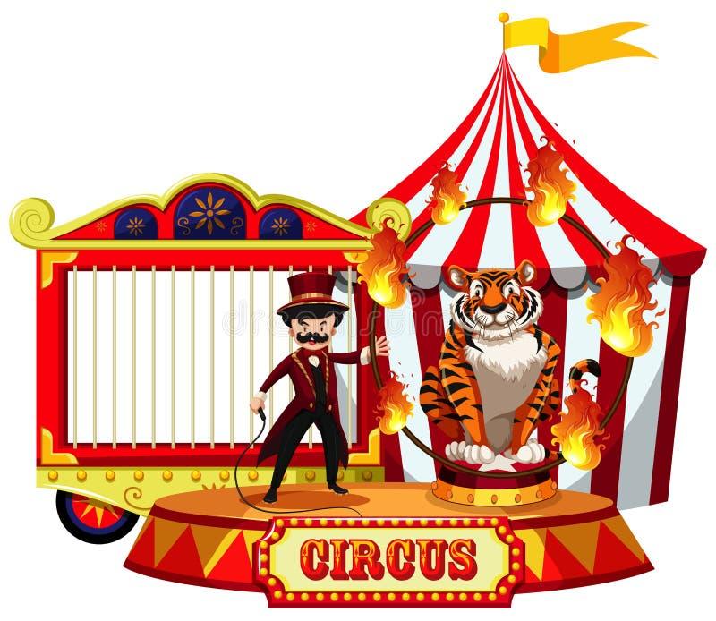 Выставка цирка на белой предпосылке иллюстрация штока