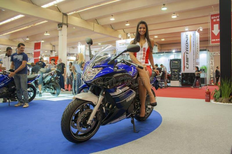 Выставка 2012 - Бразилия - São Paulo мотоцикла стоковые фото