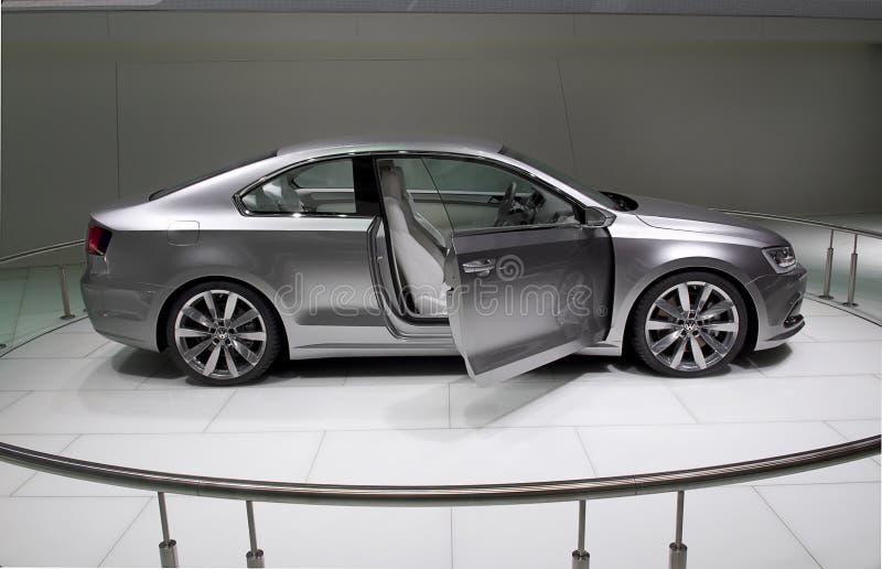 выставка detroit принципиальной схемы автомобиля 2010 автомобилей стоковая фотография rf