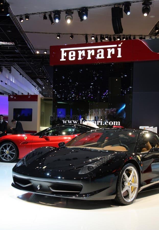 выставка paris мотора 458 ferrari gt Италии стоковое фото rf