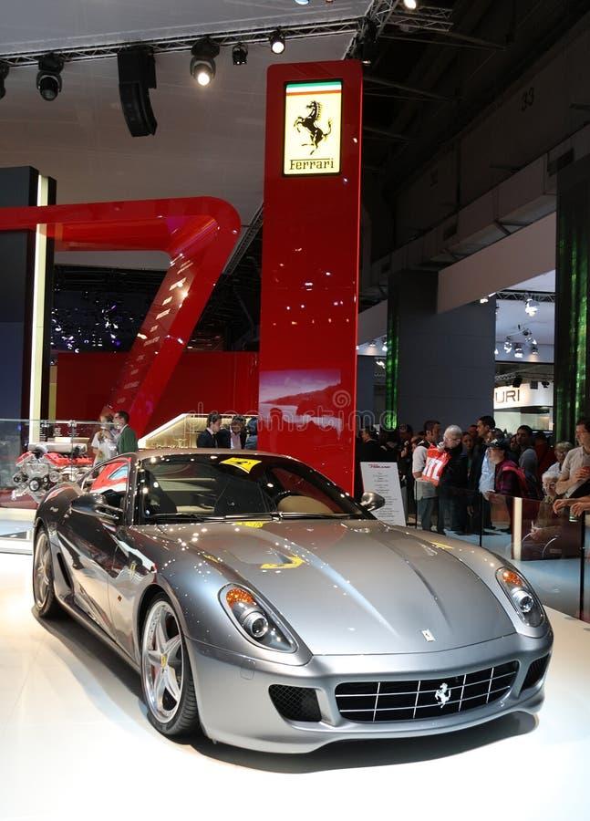 выставка paris мотора gtb fiorano 599 ferrari стоковое фото rf