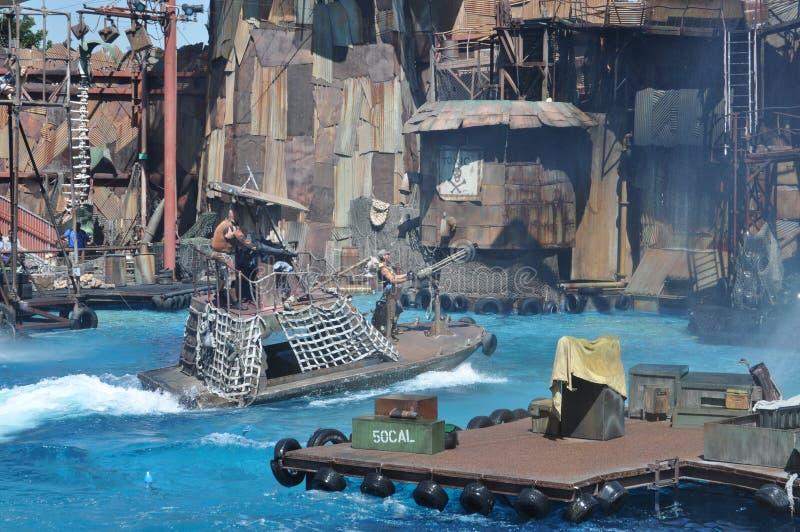 Выставка Waterworld на студиях Universal Holliwood стоковые фото