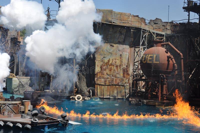 Выставка Waterworld на студиях Universal Holliwood стоковое изображение rf