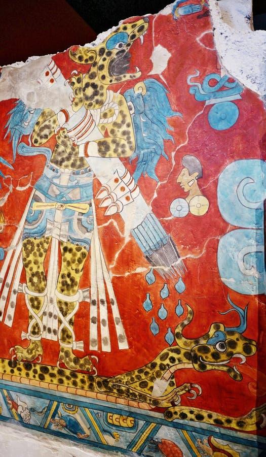 Выставки в Национальном музее антропологии, Мехико стоковые фотографии rf