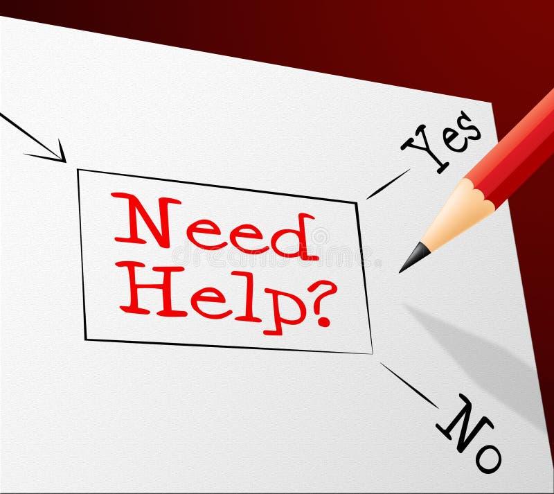 Выставки помощи потребности выбирают Ч.З.В. и вариант иллюстрация вектора