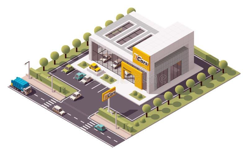 Выставочный зал автомобиля вектора иллюстрация вектора
