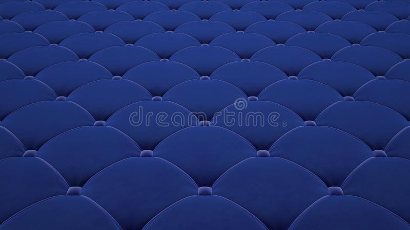 Выстеганная поверхность ткани Праздничный голубой корд Вариант 1 иллюстрация штока