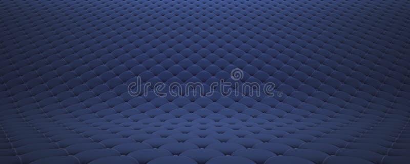 Выстеганная поверхность ткани Праздничный голубой корд Вариант 2 иллюстрация вектора
