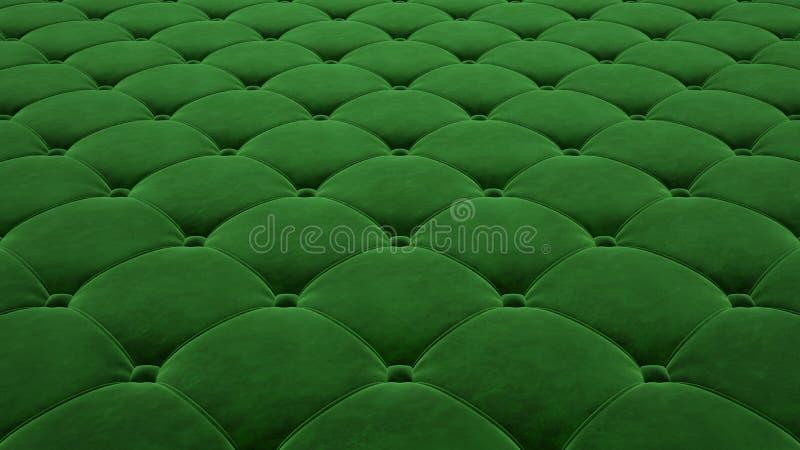 Выстеганная поверхность ткани Праздничный зеленый корд Вариант 1 иллюстрация вектора
