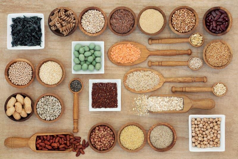 Высушенная еда Macrobiotic диеты стоковые фотографии rf
