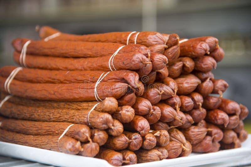 Высушенная сосиска Kabanos стоковая фотография
