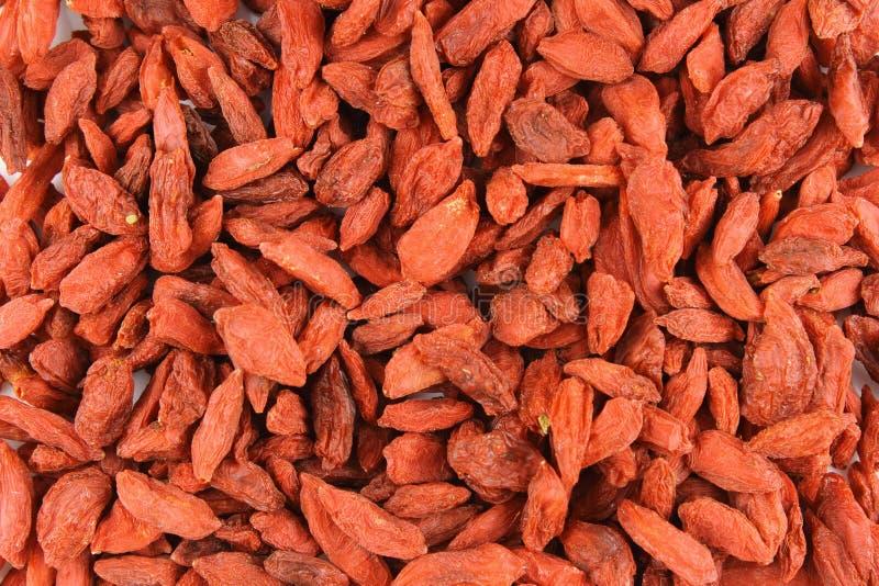 Высушенная текстура предпосылки еды крупного плана ягод goji стоковые изображения rf