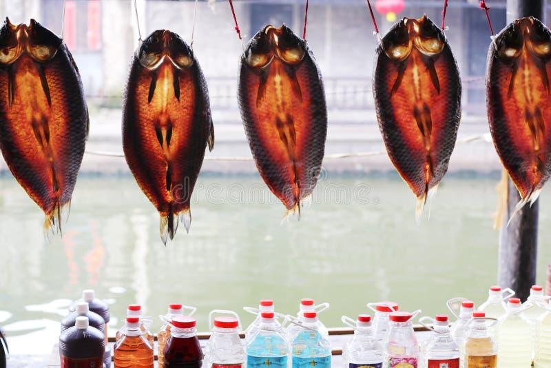 Высушенное засыхание рыб стоковая фотография