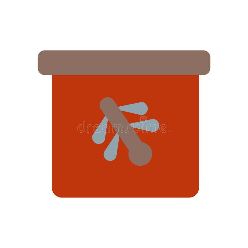 Высушенное насекомое в янтарном векторе значка изолированное на белой предпосылке, высушенном насекомом в янтарном знаке, историч иллюстрация вектора