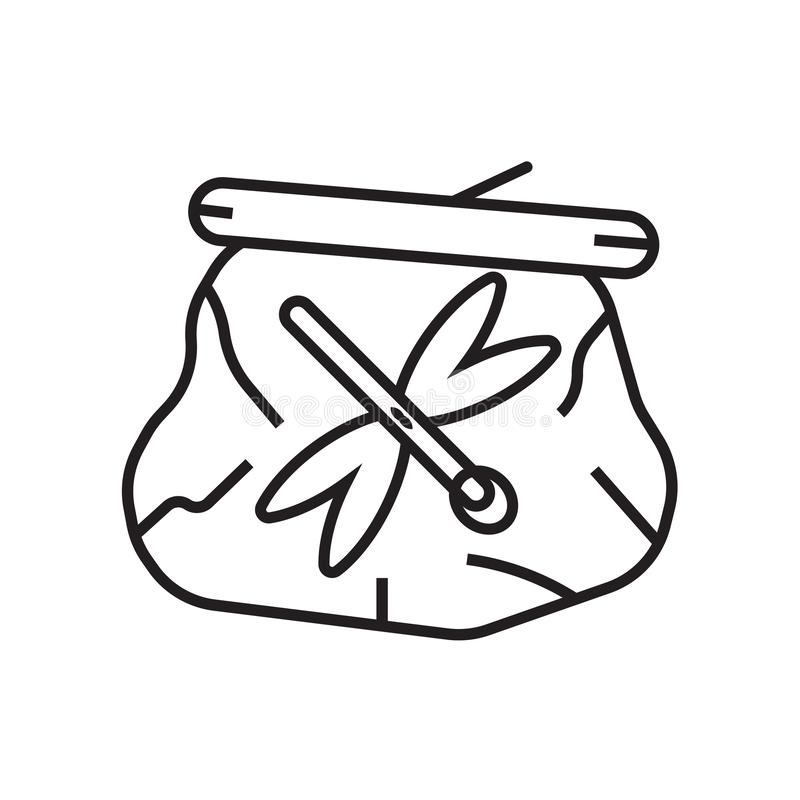 Высушенное насекомое в янтарных знаке и символе вектора значка изолированное на wh бесплатная иллюстрация