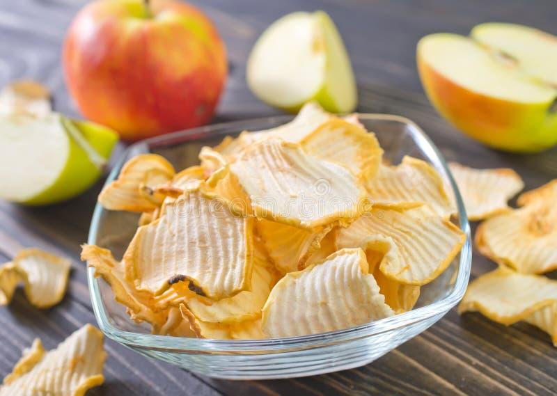 высушенное яблоко стоковые фото