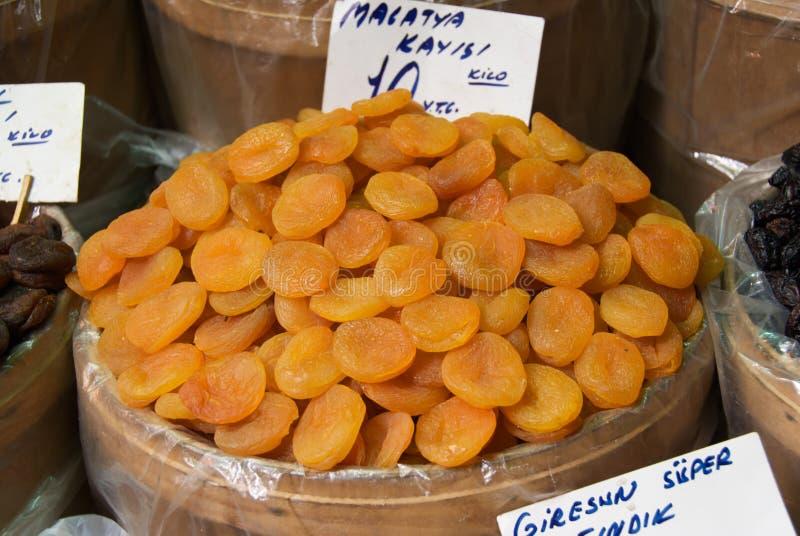 высушенные абрикосы стоковая фотография